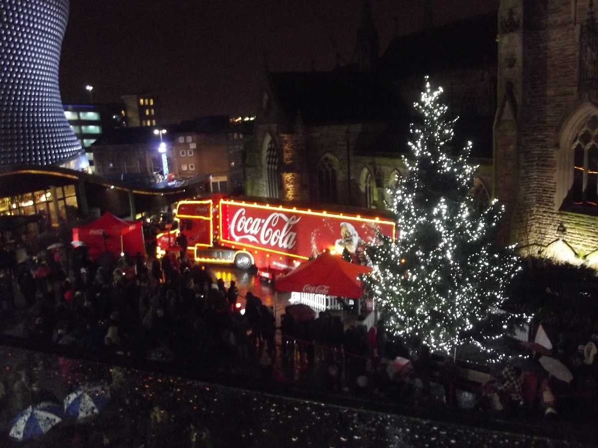 Coca Cola Christmas Truck in Birmingham over the years
