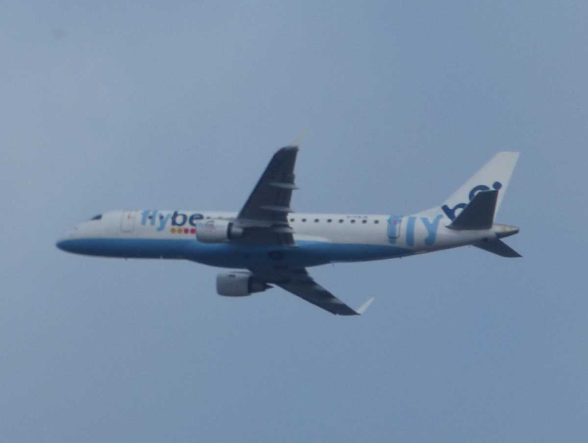 Airlines gone but not forgotten at Birmingham Airport: Flybe with their Embraer E-Jet`s