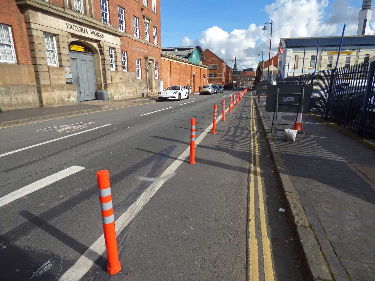 Pop up cycle lanes in the Jewellery Quarter