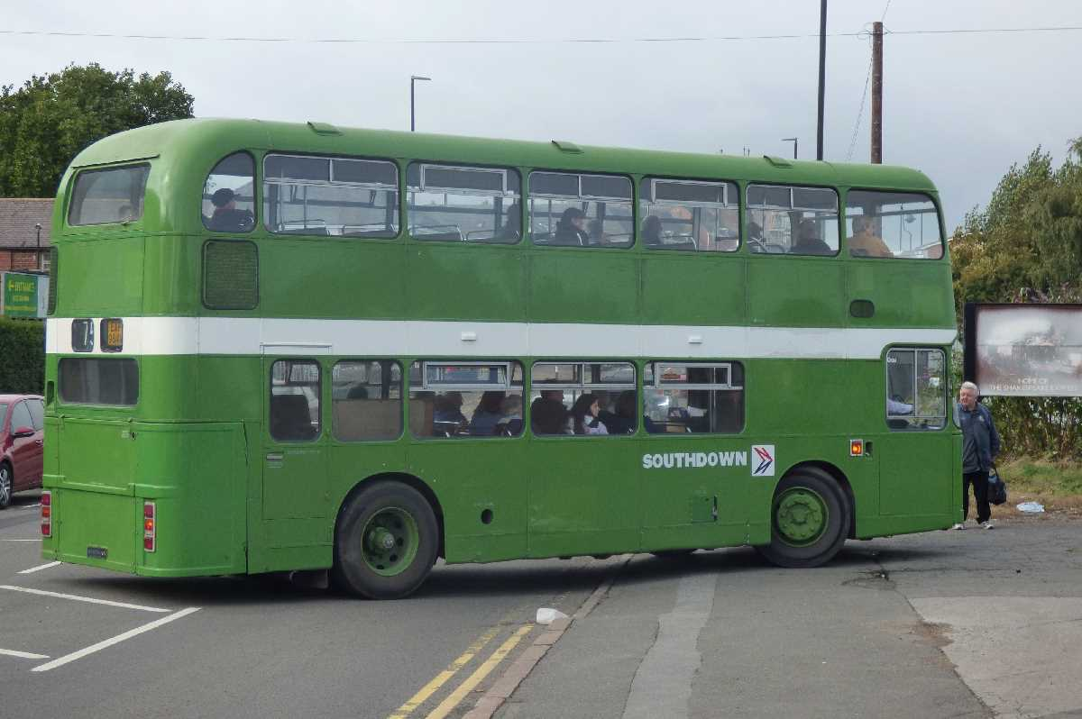 Southdown bus from the Tyseley Locomotive Works to Tyseley Station