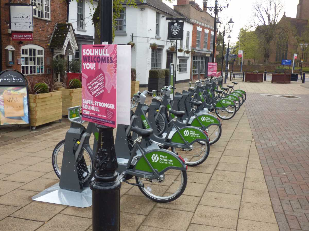 West Midlands Cycle Hire on High Street, Solihull