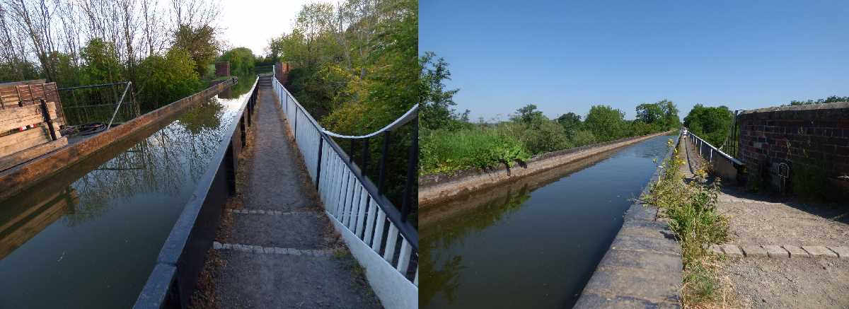 The Wootton Wawen Aqueduct and the Edstone Aqueduct on the Stratford-on-Avon Canal